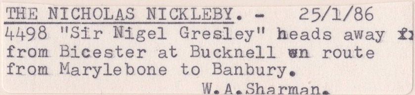 Nicholas Nickleby Label