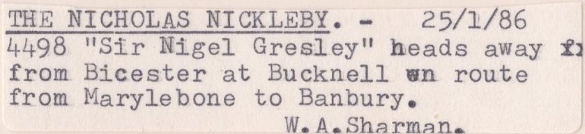 Nicholas Nickleby Label