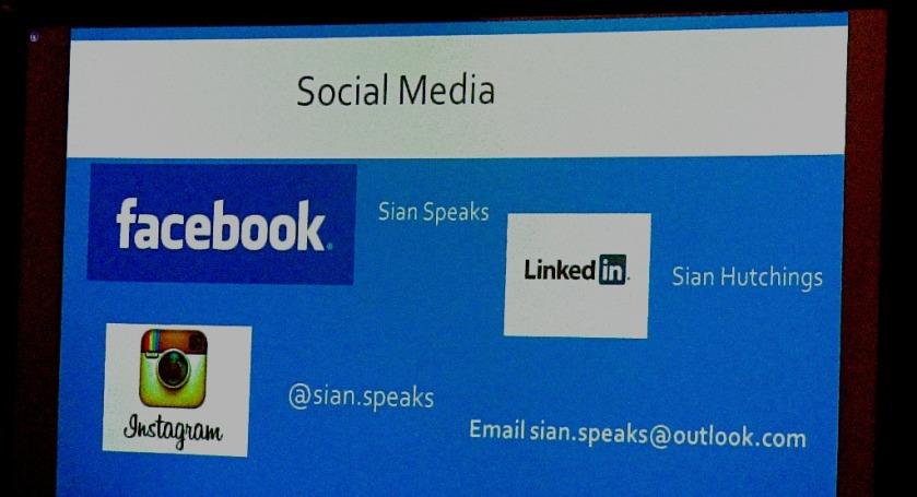 Sian's social media