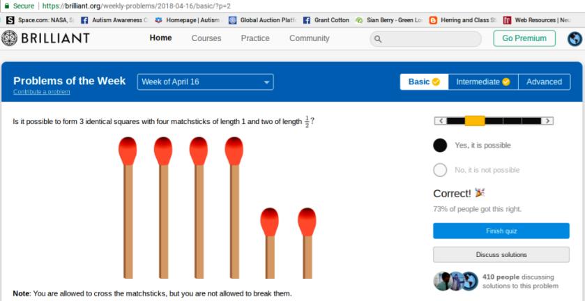 matchstick answer