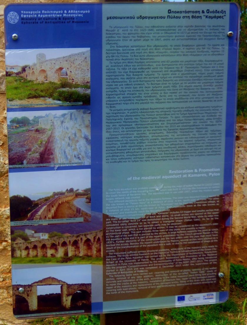 Aqueduct information board