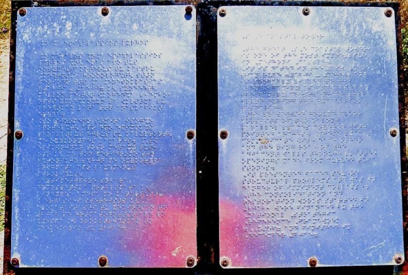 Braille info board