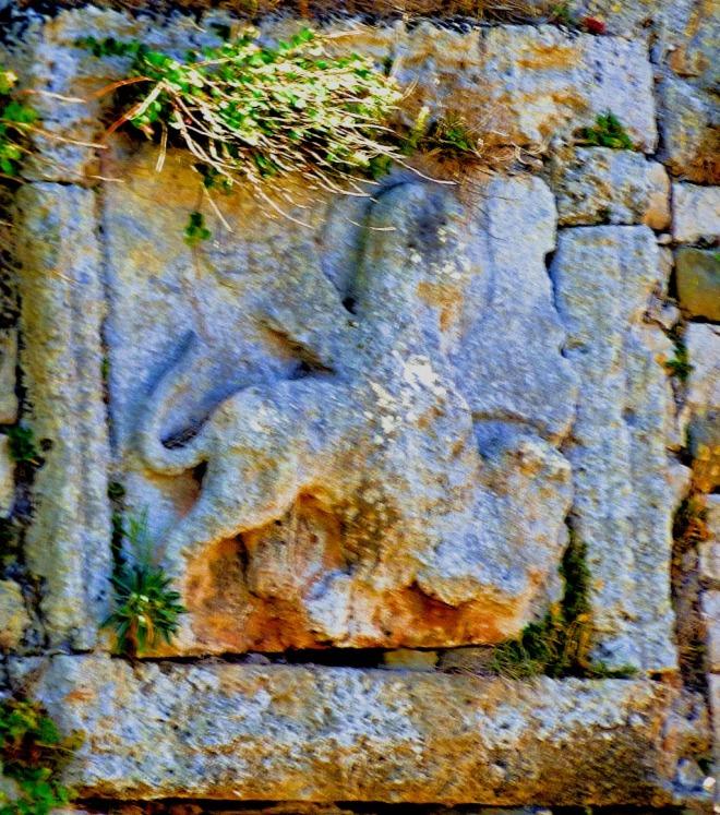 Heraldic lion, Methoni