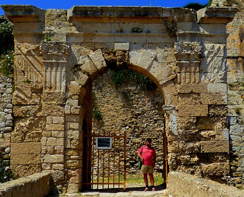 Me at the gateway to Methoni Castle