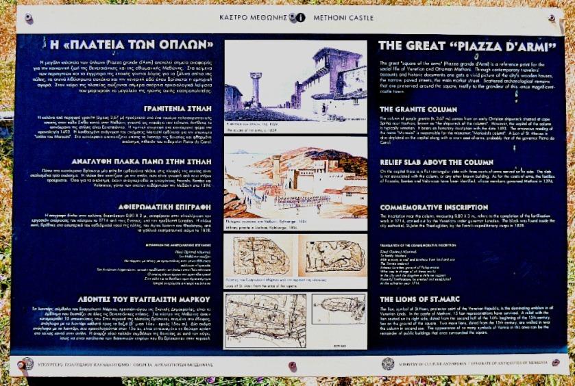 Piazza d'armi information board