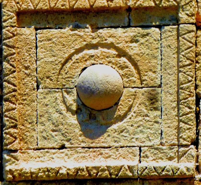wall mounted spherical stone
