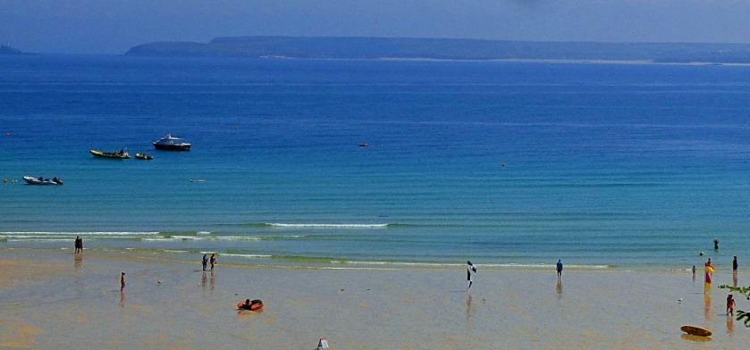 Beach scene St Ives