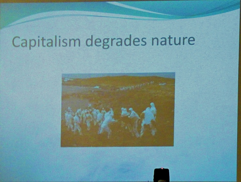 Capitalism degrades nature
