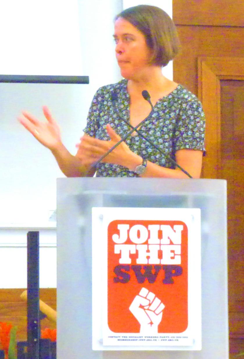 Christine starts her speech