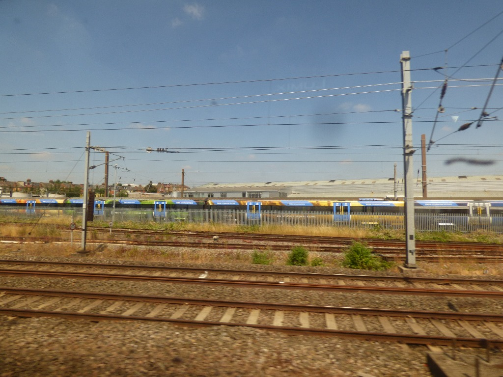 distant view of trains