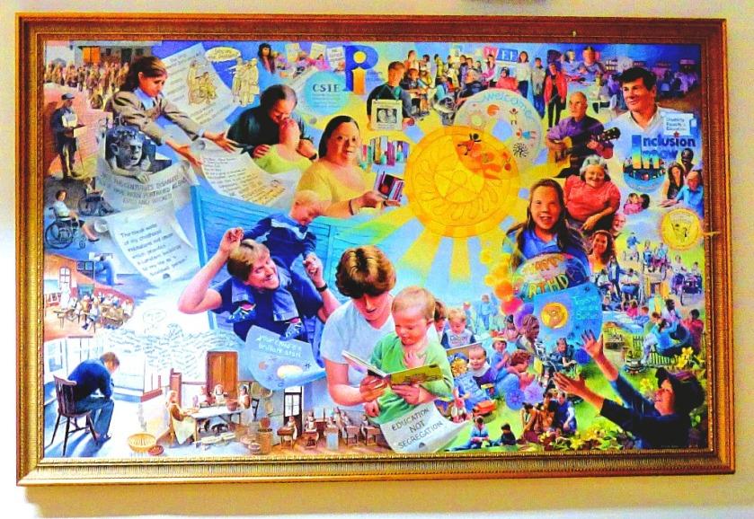 Education painting, Nunn Hall
