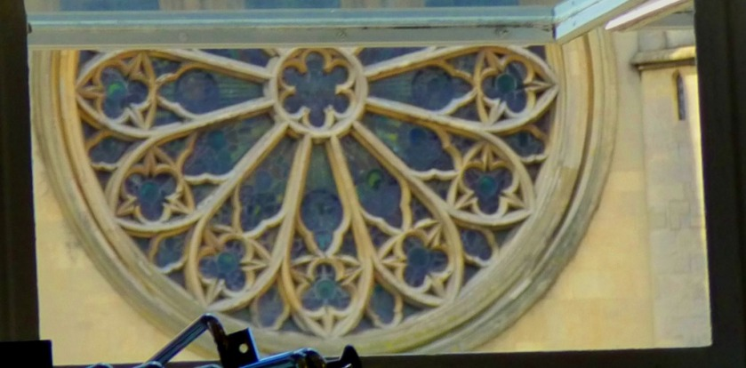 half a rose window
