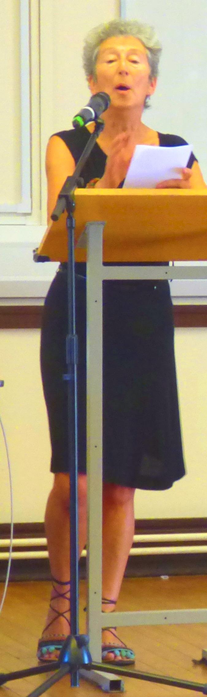 Naomi finishes her speech
