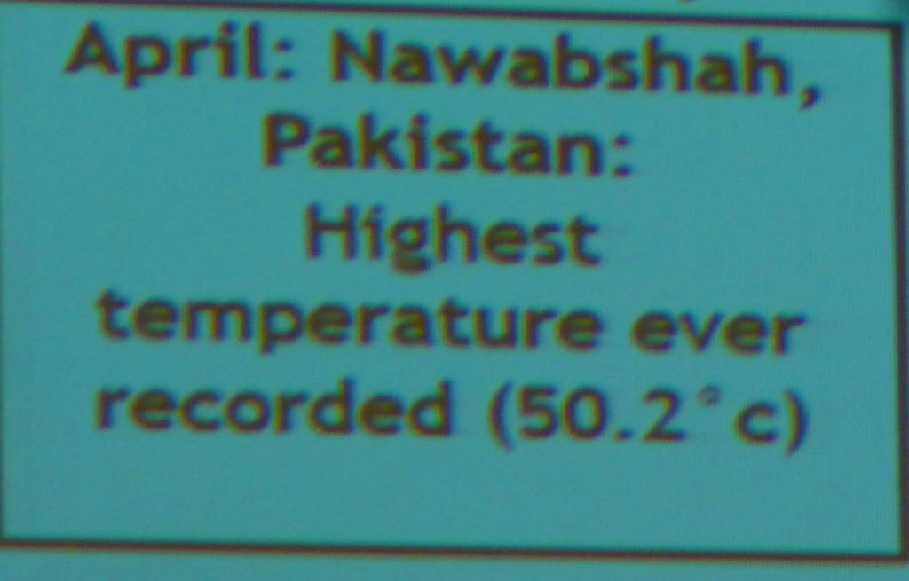 Pakistan 5o degrees
