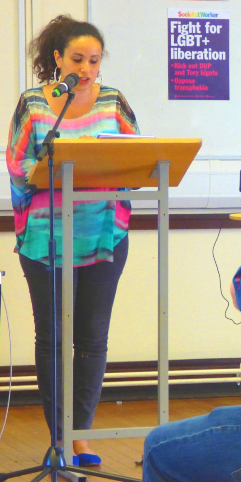 Palestinian biorn lawyer Salma speaks