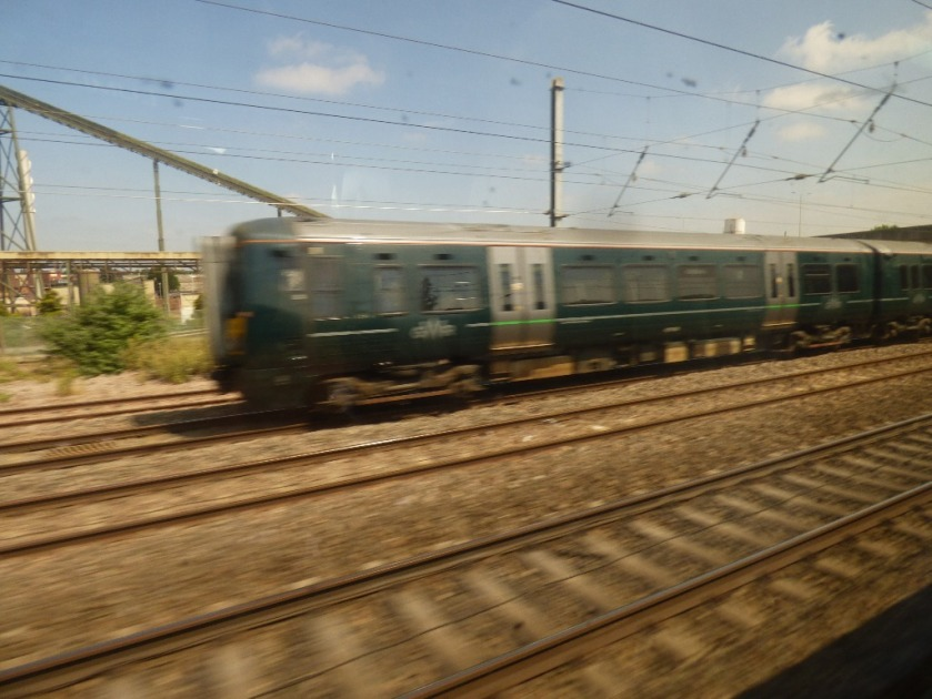 Passing a train, Berkshire