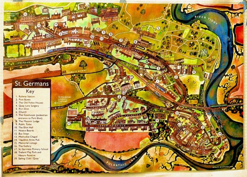 St Germans map
