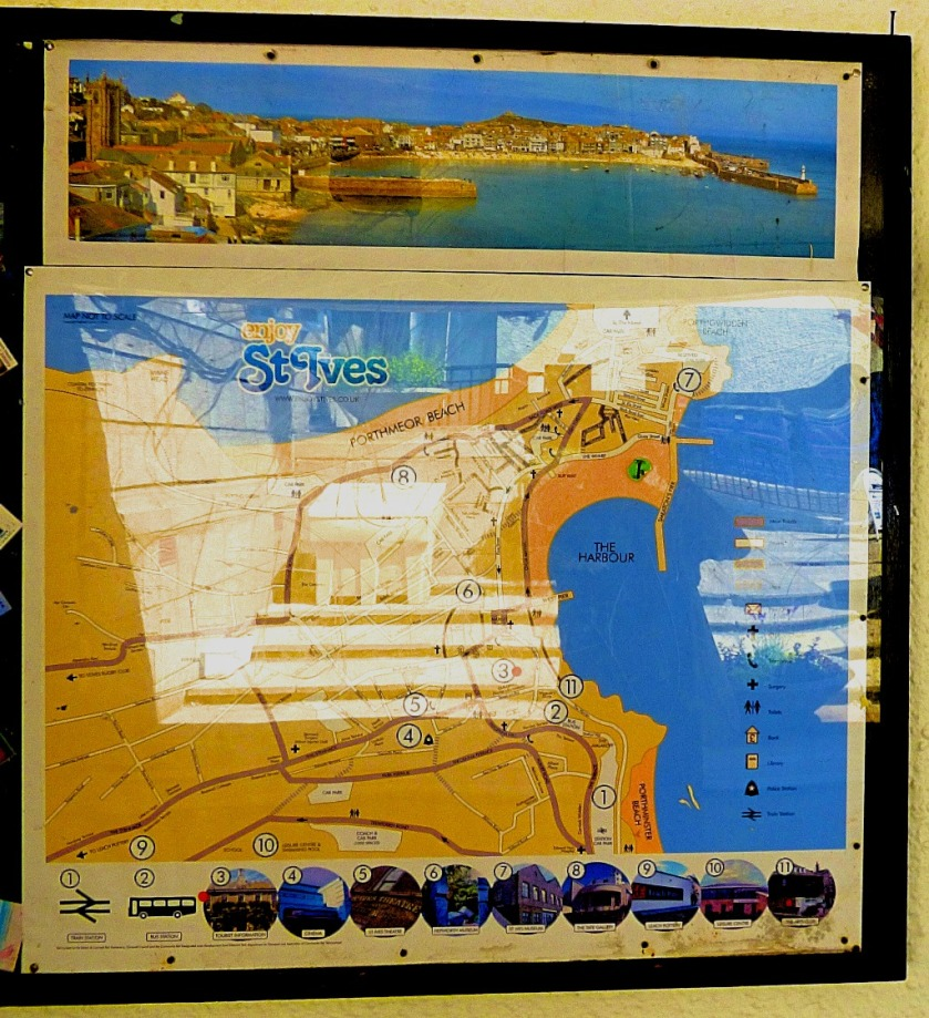 St Ives map and picture