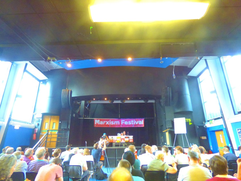 The Venue before the start of Marx the Revolutionary