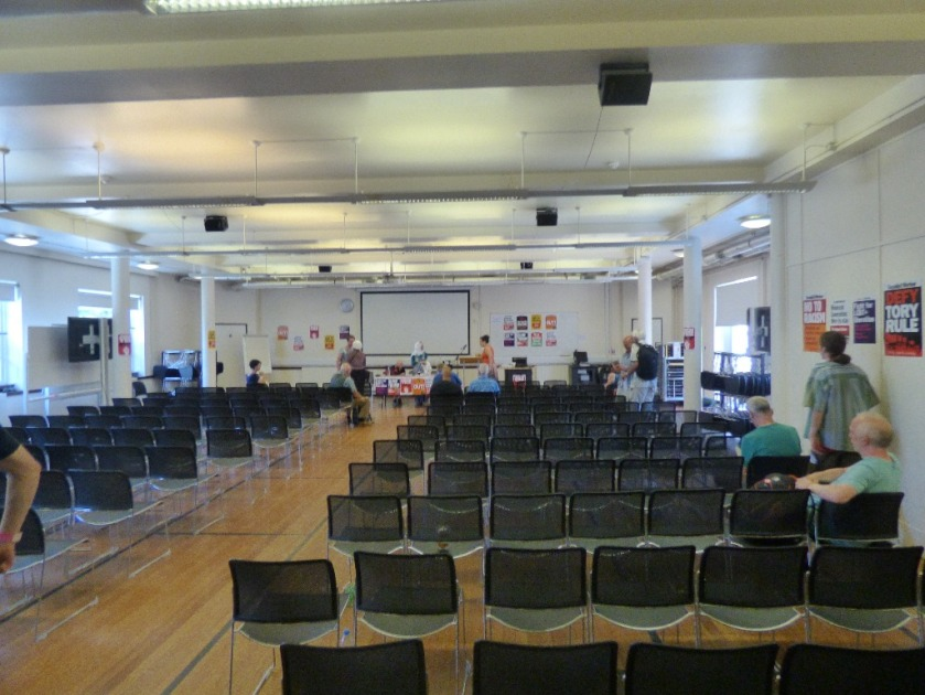 Upper Hall before meeting on antisemitism