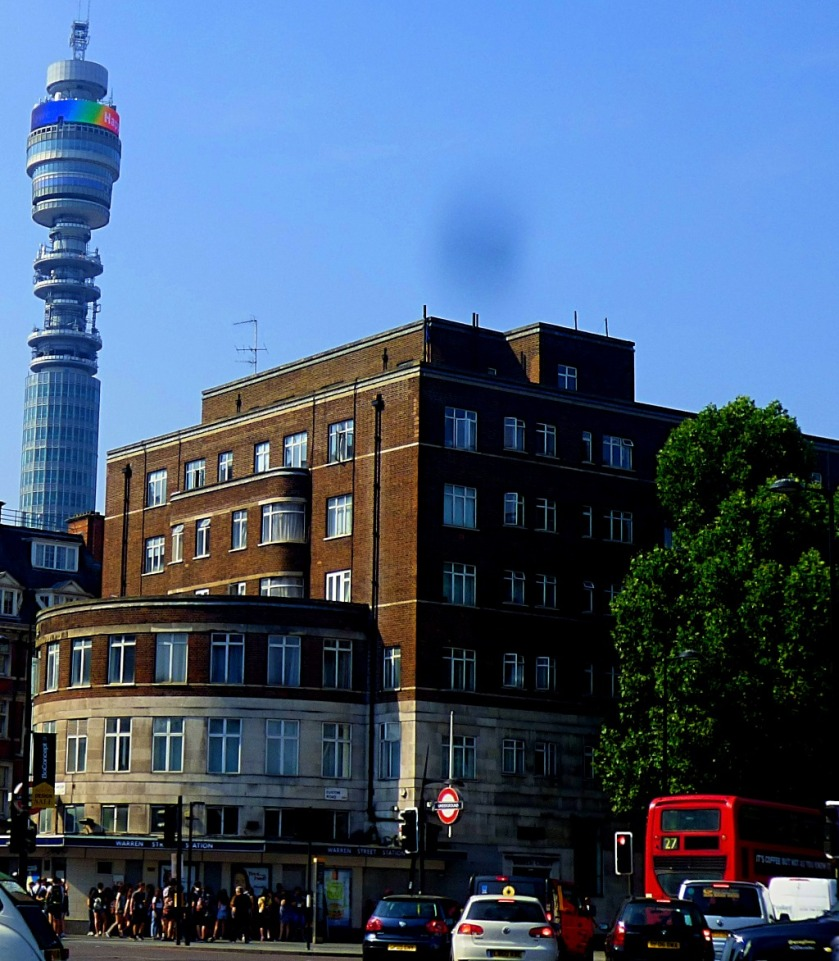Warren Street Station and the BT Tower