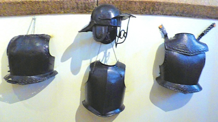breastplates and helmets