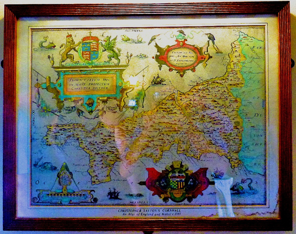 A Grockle's Eye View of Cornwall 10: The Map Room at St Michael's Mount