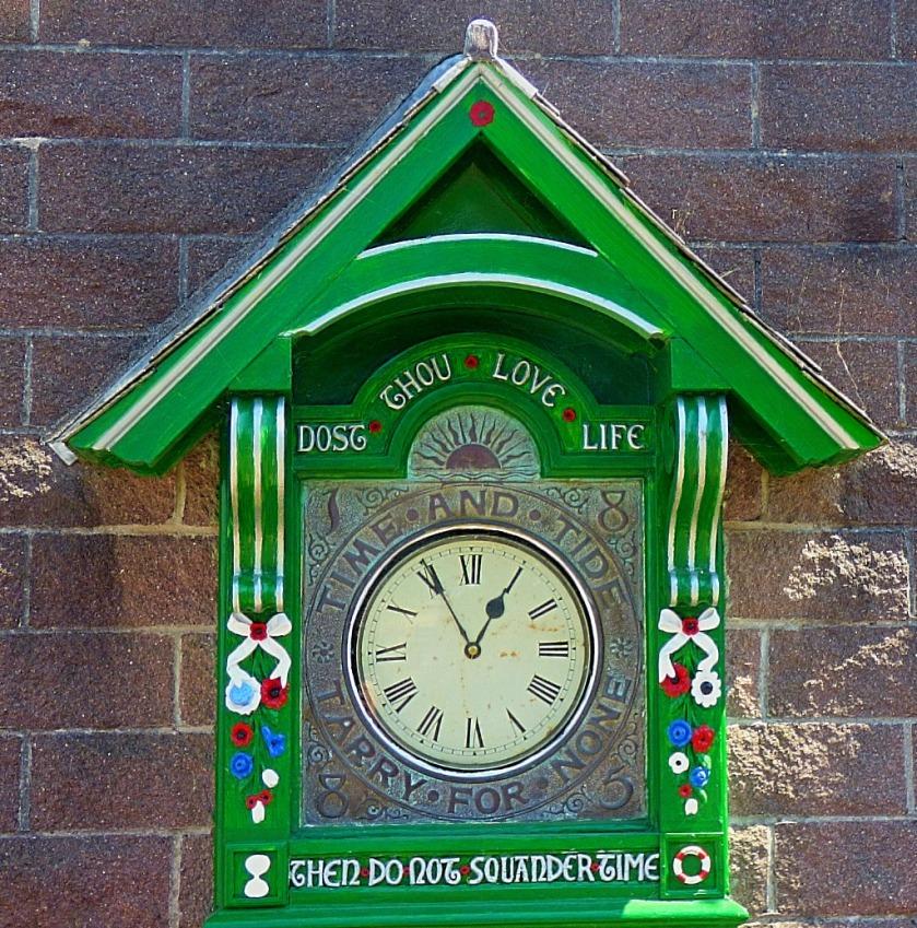 Clock near the Cremyll Ferry