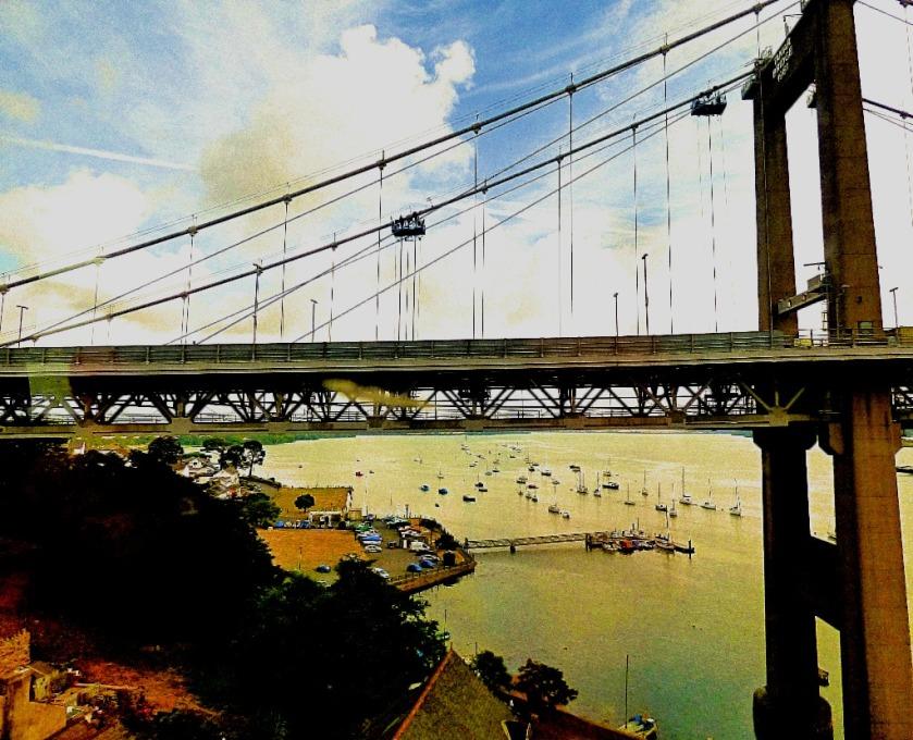 detail from suspension bridge