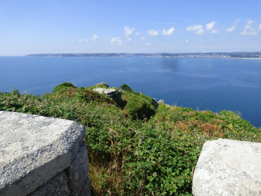 Distant view of Penzance