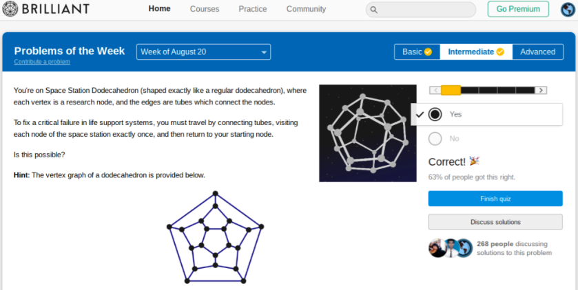 Dodecahedron answer