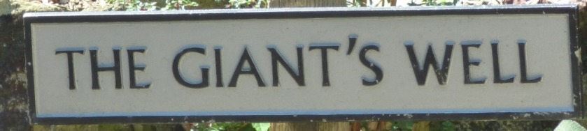 Giants Well sign