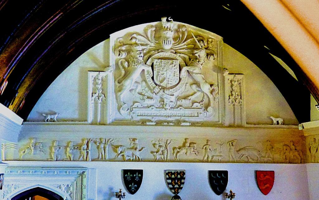 Heraldry display wall