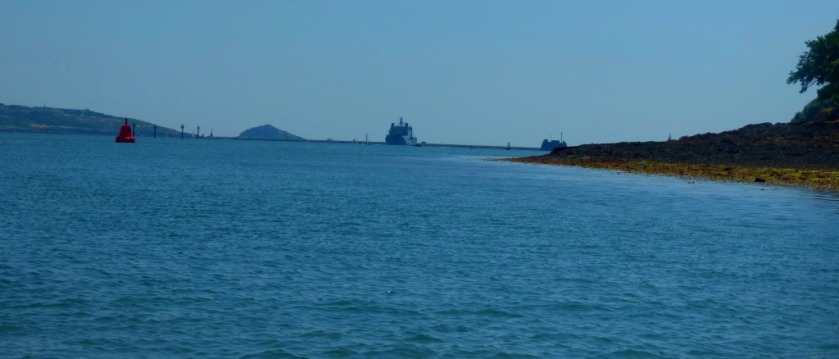 Looking towards the breakwater