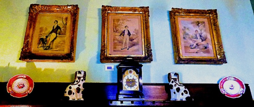 Mantelpiece and trio