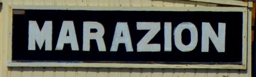 Marazion station sign