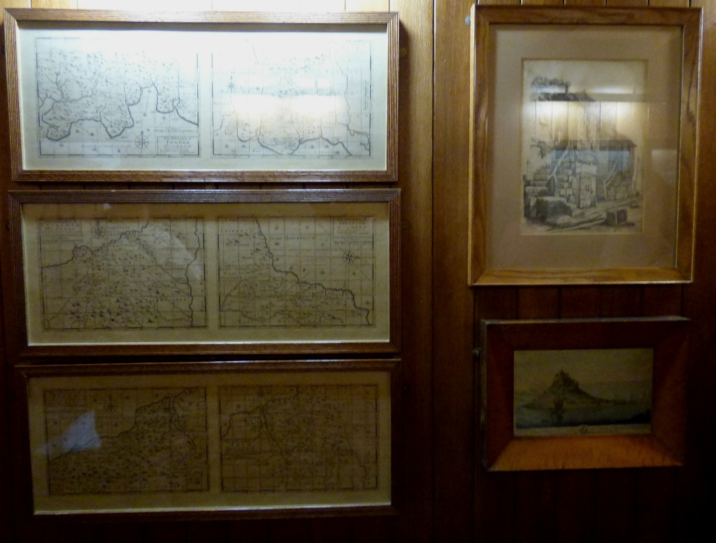six maps, two pictures