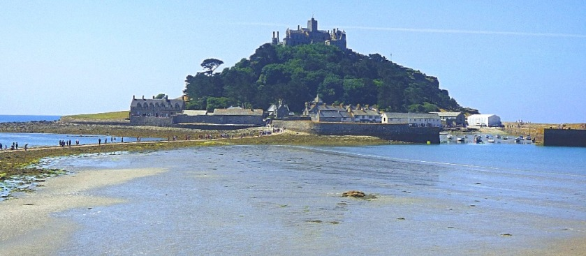 The mount viewed from the start of the causeway