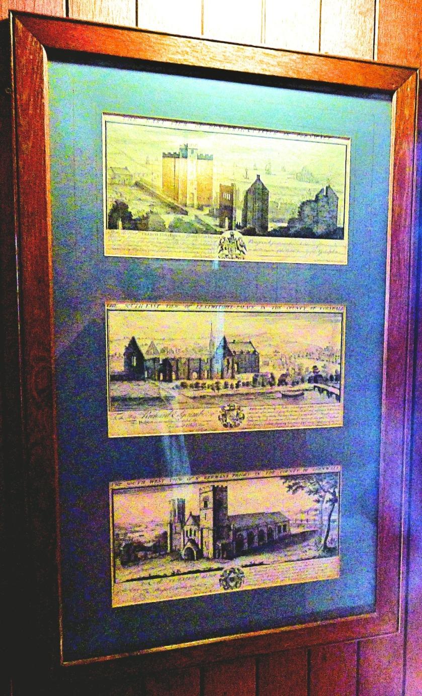 Three views of cornish buildings