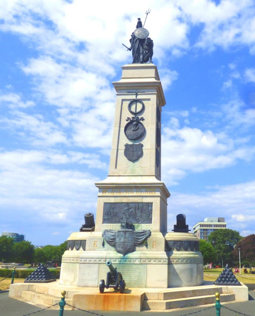 Trident wielding statue