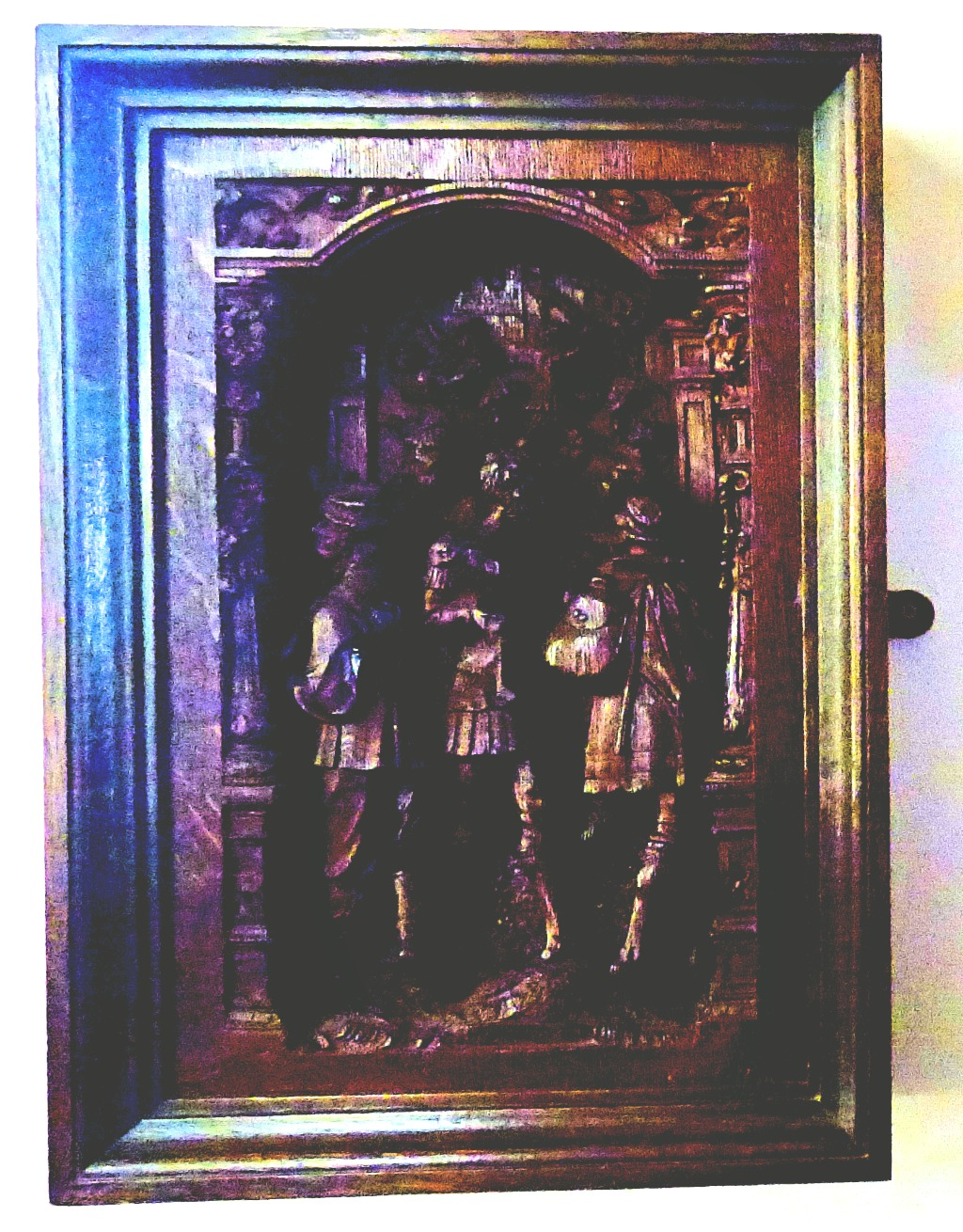 wooden bas-relief