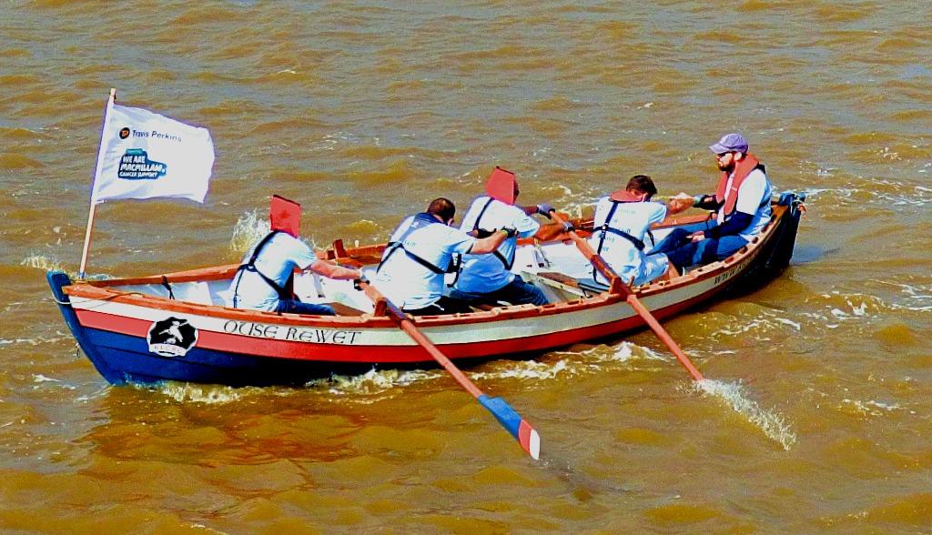 chasing row boat