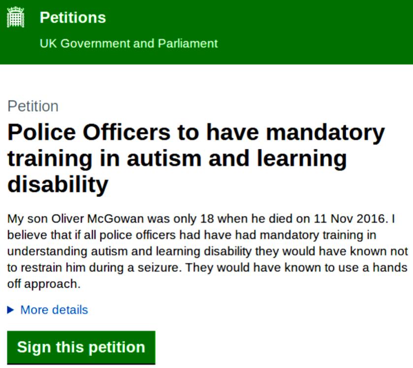 police autism training