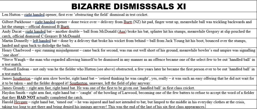Bizarre Dismissals