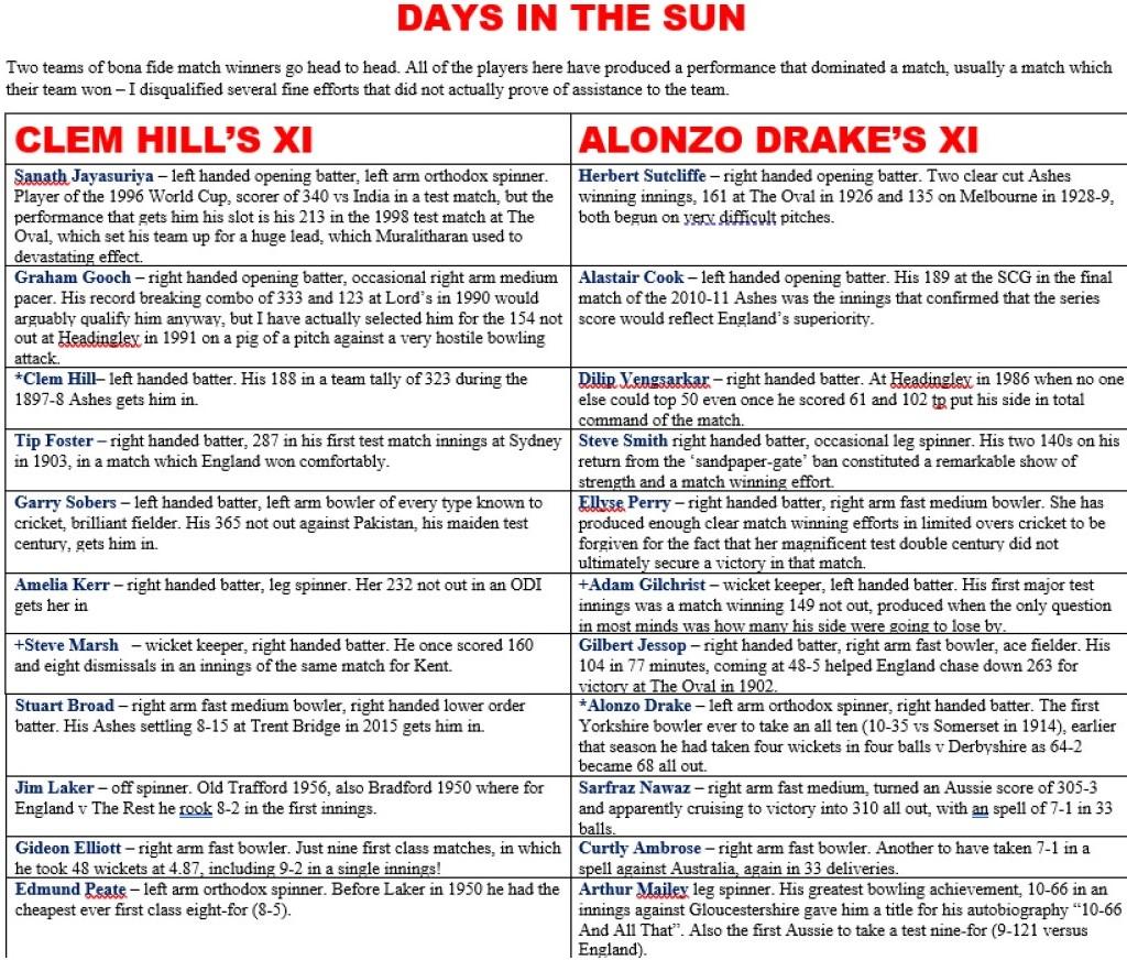 Days In The Sun