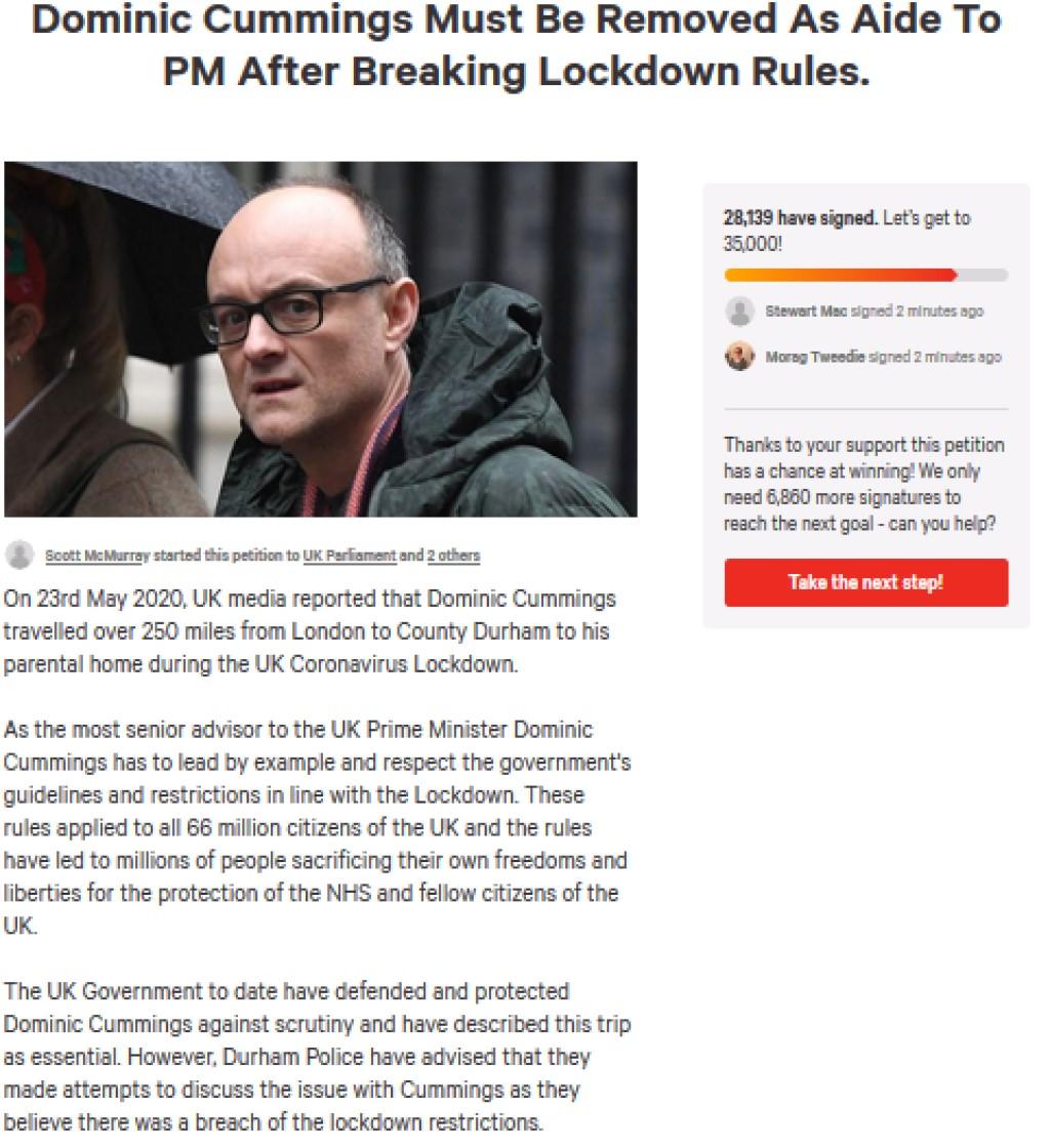 Scummings petition
