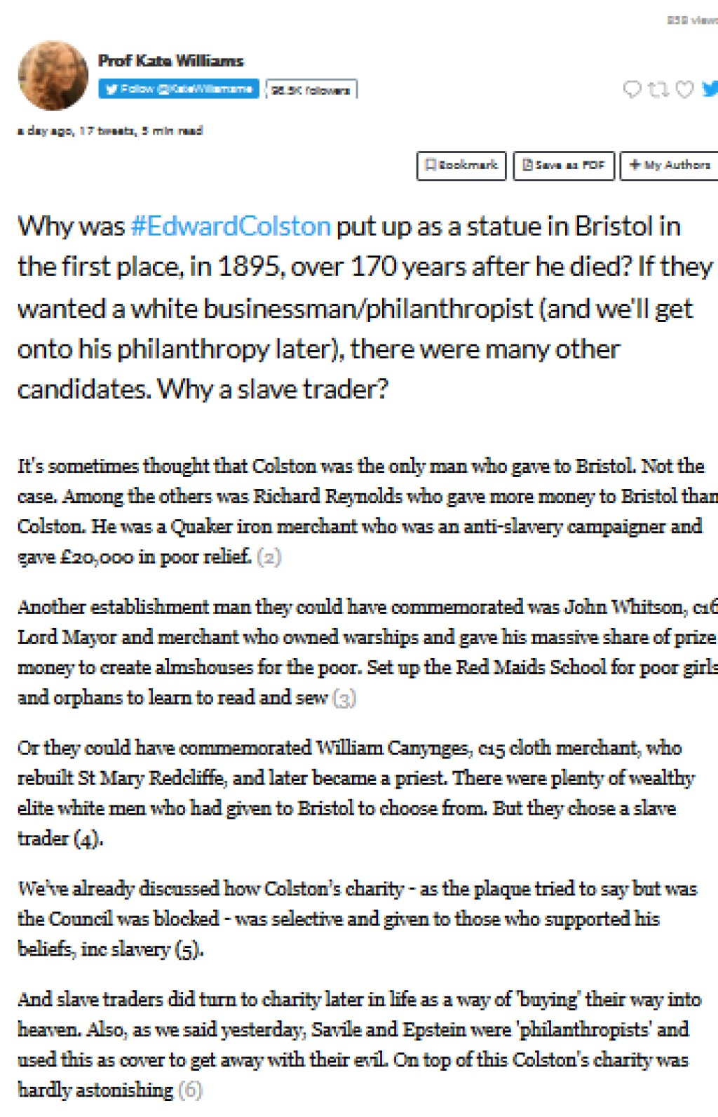Colston and Philanthropy
